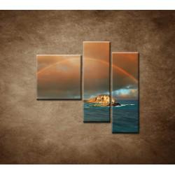 Obrazy na stenu - Dúha nad morom - 3dielny 110x90cm