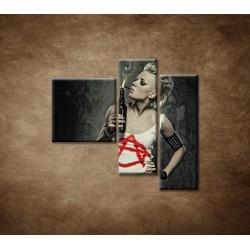 Obrazy na stenu - Rockerka - 3dielny 110x90cm