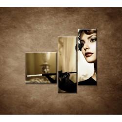 Obrazy na stenu - Žena s cigaretou - 3dielny 110x90cm