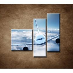 Obrazy na stenu - Boeing 747 - 3dielny 110x90cm