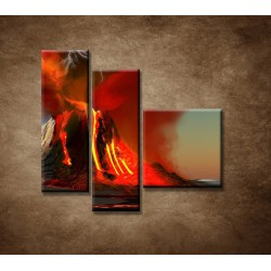 Obrazy na stenu - Sopka - 3dielny 110x90cm