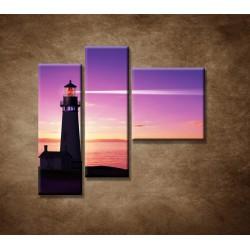 Obrazy na stenu - Lúč majáka - 3dielny 110x90cm