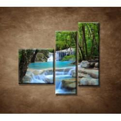 Obrazy na stenu - Horský potok - 3dielny 110x90cm