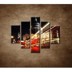 Obrazy na stenu - Nočný Londýn - 5dielny 100x80cm