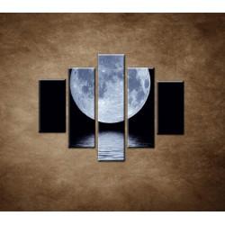 Obrazy na stenu - Mesiac nad hladinou - 5dielny 100x80cm