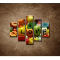Obrazy na stenu - Love - 5dielny 100x80cm