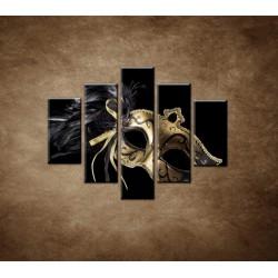 Obrazy na stenu - Karnevalová maska - 5dielny 100x80cm