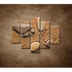 Obrazy na stenu - Nohy z kamienkov - 5dielny 100x80cm