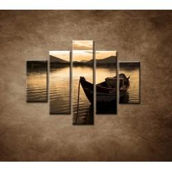 Obrazy na stenu - Loďka - 5dielny 100x80cm