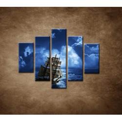 Obrazy na stenu - Búrka na mori - 5dielny 100x80cm