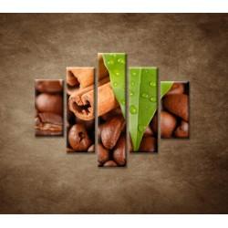 Obrazy na stenu - Káva - 5dielny 100x80cm