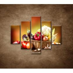Obrazy na stenu - Zelenina - 5dielny 100x80cm