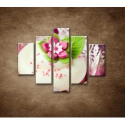 Obrazy na stenu - Svadobné koláčiky - 5dielny 100x80cm