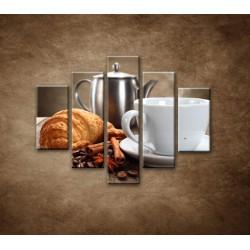 Obrazy na stenu - Raňajky - 5dielny 100x80cm