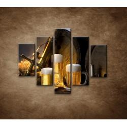 Obrazy na stenu - Pivný raj - 5dielny 100x80cm