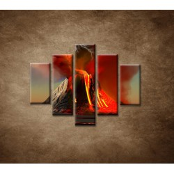 Obrazy na stenu - Sopka - 5dielny 100x80cm