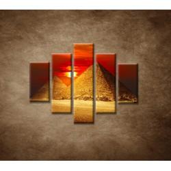 Obrazy na stenu - Pyramídy - 5dielny 100x80cm