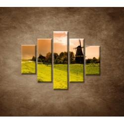 Obrazy na stenu - Západ slnka na mlynom - 5dielny 100x80cm