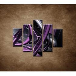 Obrazy na stenu - Fialové umenie - 5dielny 100x80cm