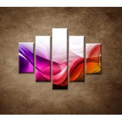 Obrazy na stenu - Farebná vlna - 5dielny 100x80cm