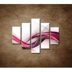 Obrazy na stenu - Ružová vlna - 5dielny 100x80cm