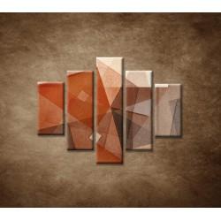 Obrazy na stenu - Hnedá abstrakcia - 5dielny 100x80cm
