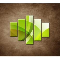 Obrazy na stenu - Zelená abstrakcia - 5dielny 100x80cm