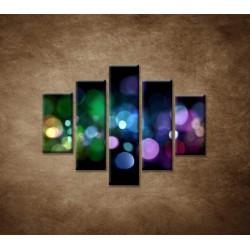 Obrazy na stenu - Abstraktné svetlá - 5dielny 100x80cm