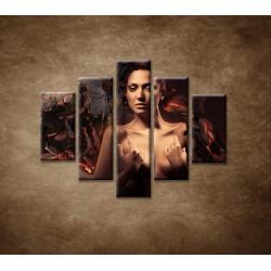 Obrazy na stenu - Sexi žena - 5dielny 100x80cm