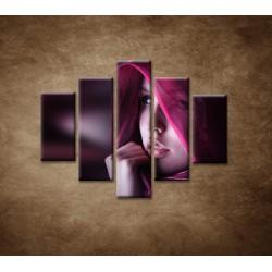 Obrazy na stenu - Žena so šatkou - 5dielny 100x80cm
