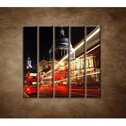 Obrazy na stenu - Nočný Londýn - 5dielny 100x100cm
