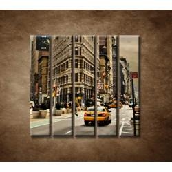 Obrazy na stenu - Žehlička - New York - 5dielny 100x100cm