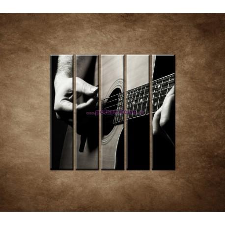 Obrazy na stenu - Gitarista - 5dielny 100x100cm