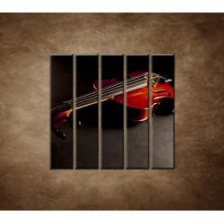 Obrazy na stenu - Husle - 5dielny 100x100cm