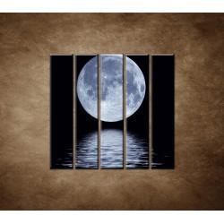 Obrazy na stenu - Mesiac nad hladinou - 5dielny 100x100cm