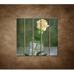 Maľovaná ruža - 5dielny 100x100cm