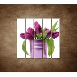 Svieže tulipány - 5dielny 100x100cm
