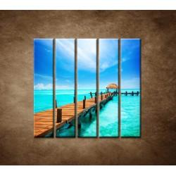 Obrazy na stenu - Mólo - 5dielny 100x100cm