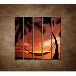 Obrazy na stenu - Odpočinok - 5dielny 100x100cm