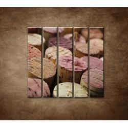 Obrazy na stenu - Korky od vína - 5dielny 100x100cm