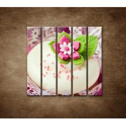 Obrazy na stenu - Svadobné koláčiky - 5dielny 100x100cm