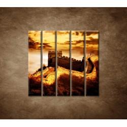 Obrazy na stenu - Čínsky múr - 5dielny 100x100cm