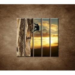 Obrazy na stenu - Horolezec - 5dielny 100x100cm