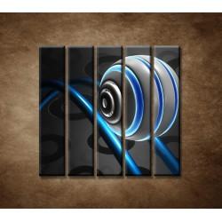 Obrazy na stenu - 3D guľa - 5dielny 100x100cm