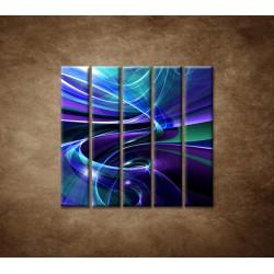 Obrazy na stenu - Modré abstraktné pozadie - 5dielny 100x100cm