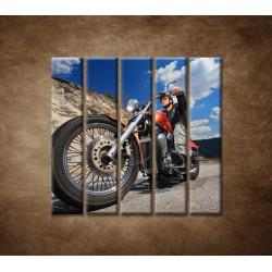 Obrazy na stenu - Motorkár - 5dielny 100x100cm