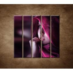 Obrazy na stenu - Žena so šatkou - 5dielny 100x100cm