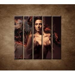 Obrazy na stenu - Sexi žena - 5dielny 100x100cm
