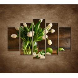 Tulipány vo váze - zátišie - 5dielny 150x100cm