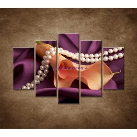 Obrazy na stenu - Kala a perly - 5dielny 150x100cm